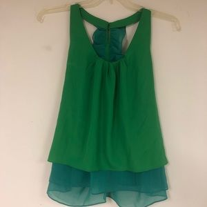 NWT ruffled T-back tank
